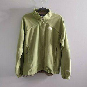 The North Face Windwall Fleece Zip Up Jacket Green